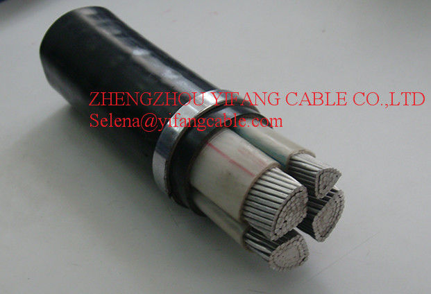 ISO CE Low Voltage Power Cable , 4 Core XLPE Cable Aluminium Conductor